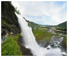 Steinsdalsfossen (daveelmore) Tags: panorama norway norge waterfall steine hordaland kvam stitchedpanorama steinsdalsfossen mzuiko918mm