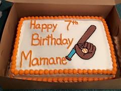 Baseball cake by Andrea, Triad Area, NC, www.birthdaycakes4free.com