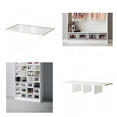 Shelf Insert & Glass Shelf (Heath & the B.L.T. boys) Tags: ikea closet shelves shoes organize storage