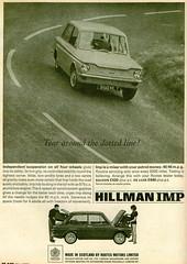 Hillman Imp (1965) (andreboeni) Tags: classic car automobile cars automobiles voitures autos automobili classique voiture retro auto oldtimer klassik classica publicity advert advertising advertisement hillmanimp hillman imp rootes rootesgroup