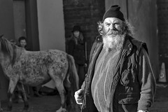Falstaff at the fair (Frank Fullard) Tags: frankfullard fullard falstaff fat large rotund shakespear theatrical cap beard fair horse ballinasloe literature