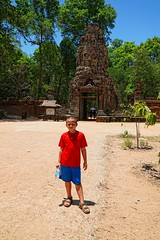 My son in Angkor Wat, Siem Reap, Cambodia (adamba100) Tags: asia asian china chinese korea korean mongolia mongolian vietnam vietnamese thai beijing town city view landscape cityscape street life lifestyle style people human person man men woman women male female girl boy child children kid interesting portrait innocent cute charm pretty beauty beautiful innocence face headshot pure purity tourism sightseeing tourist travel trip light color colour outdoor traditional cambodia cambodian phnom penh sony a6300 18105 siem reap pattaya bangkok colonnade architecture column ruins ancient stonework
