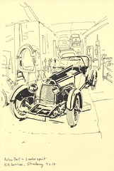 Aston Martin - 2 Seater Sport - chez H.H.Services (lolo wagner) Tags: croquis sketch usk strasbourg voiture car carrosserie atelier aston