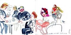 spanish-speakers corner (marin71) Tags: art sketch urbansketchers drawing oneweek100people2017