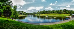 sefton park (Phil Longfoot Photography) Tags: sefton park liverpool panoramic trees tree lake picturesque merseyside reflection reflections clouds sunny sun