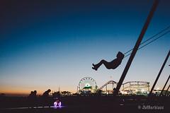 Santa Monica Pier (M0rris82) Tags: leica santamonica pier beach travel vsco nigh bluehour sunset fun swing play beautiful
