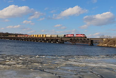 Merrimac, Wisconsin (UW1983) Tags: trains railroads wisconsinsouthern wsor reedsburgsub reedsburgrocket lakewisconsin merrimac wisconsin bridges
