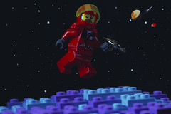 The sky is the ultimate art gallery just above us. (Ser Eathan) Tags: lego retro space sci fi ray gun