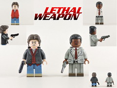 Custom LEGO Lethal Weapon: Riggs & Roger Minifigures (Will HR) Tags: lego custom lethalweapon