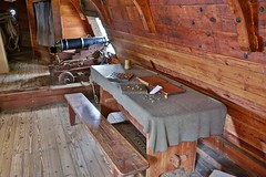 On the tweendeck on the Susan Constant (nutzk) Tags: virginia jamestown settlement susanconstant boat ship sail sailboat cannon tweendeck