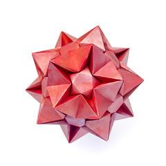 Happy birthday, Tanya! С днем рождения, Таня! (_Ekaterina) Tags: origami kusudama unitorigami modularorigami ekaterinalukasheva red tant paperfolding paper pentagon acrylic