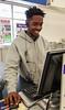 happy shipping clerk (Tim Evanson) Tags: cuteguys