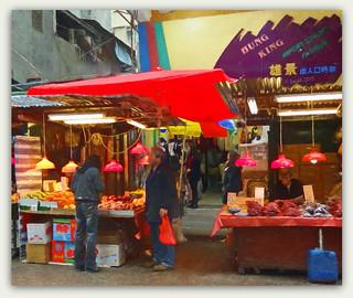 Fruit shopping in Hong Kong with Van Gogh  **Explored**
