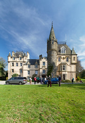 Cloan House (itmpa) Tags: cloanhouse 1800 1820 extended andrewheiton 1866 1860s harryramsaytaylor 19045 1900s listed categoryb house domestic frenchifiedscotsbaronial scotsbaronial cloan auchterarder ahss studytour architecturalheritagesocietyofscotland composite stitch stitched panorama bluesky scotland archhist itmpa tomparnell canon 6d canon6d