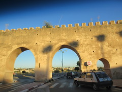 Double arch gate over the roadway, Meknes, Morocco (Paul McClure DC) Tags: meknes meknès morocco almaghrib jan2017 architecture historic