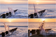 Swanage Surf Sunrise Montage (Photograferry) Tags: dorset southcoast uk nopeople outside landscape nature isleofpurbeck coast dawn groyne ocean sea sunrise swanage touristdestination waves