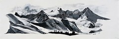 Chaine Himalayenne 120X40cm Acrylique        A VENDRE