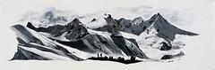 Chaine Himalayenne 120X40cm Acrylique