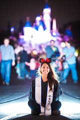 Lets Graduate! (tonyboytran) Tags: california portrait castle love smile canon mouse happy eos sitting disneyland flash graduation ears disney resort bow 5d minniemouse grad external csuf markiii disneyresort 2013 tonytranphotography