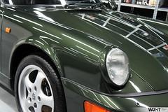 964targa-60 (Wax-it.be) Tags: roof detail reflection green shine convertible porsche gloss cabrio waxing perfection speedster targa detailing 964 swissvax waxit
