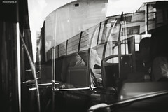 * (PHOTODRAMA *) Tags: street people bw bus reflections mirror outdoor