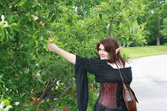 IMG_1783 (KuriTheElf) Tags: cosplay wildlife elf corset redhair lyna blacktights leatherboots