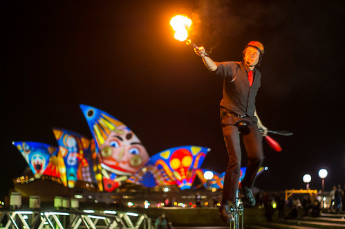 Clowning around - Vivid Sydney 2013