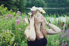 Brittany. (NEW|photography) Tags: morning flowers summer forest sunrise early model woods tattoos