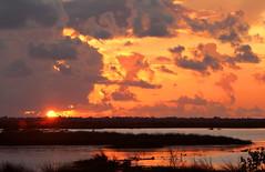 Sunrise at Bayou Sauvage (Explored) (Lana Gramlich) Tags: lana nature water sunrise catchycolors louisiana marsh nationalwildliferefuge nwr gramlich orleansparish bayousauvage neworleanseast fantasticnature dragondaggerphoto canoneosrebelt2i lanagramlich aug112013