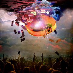 Night of Rock (jaci XIII) Tags: people music concert guitar surrealism guitarra concerto fantasy fantasia population msica violo povo surrealismo populao