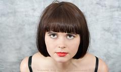 (Yvonne Shearer) Tags: new red portrait woman art love girl fashion photography photographer bob yvonne lips auckland zealand libby warren bangs shearer 52weeksofbeauty