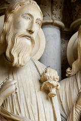 Isaiah (Nick in exsilio) Tags: sculpture france cathedral gothic cathédrale virginmary chartres typology notredamedechartres northportal