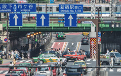 Shinjuku - Tokyo, Japan (inefekt69) Tags: japan nikon d5100 dslr nihon nippon travel city tokyo shinjuku shibuya 日本 東京 streetscene streetphotography streetscape train rail