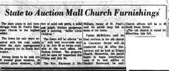 NYS auctions off the contents of St Paul's Episicopal Church, purchased through eminent domain to demolish for the South Mall to build the Empire State Plaza   1964  albany ny  1960s (albany group archive) Tags: old albany historic ny vintage st pauls episcopal church demolition auction eminent doman esp empire state plaza south mall 1964 1960s oldalbany history photo photos historical photogaphs picture photograph development