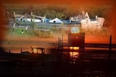 mt crépuscule (Jean-marc17340) Tags: art colors collage composition dream montage yves marais couchédesoleil océan charentesmaritime chatelaillonplage lesboucholeurs