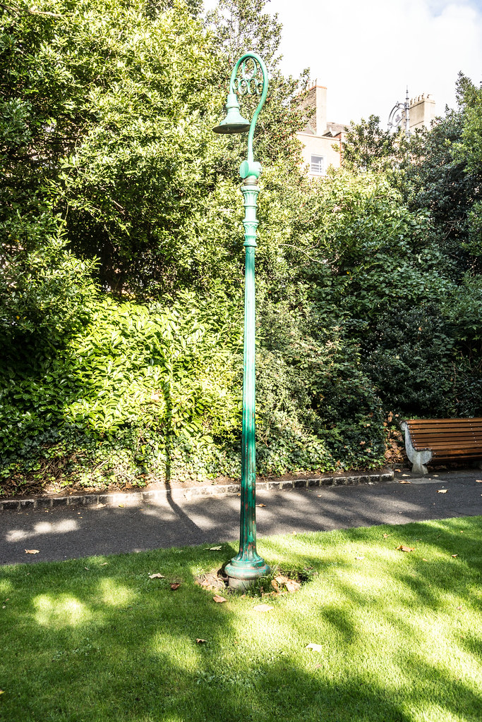 A Collection Of Old Dublin Lamp Posts In Merrion Square Park