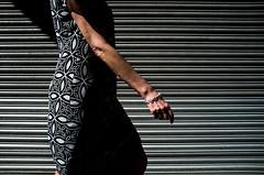 (Matt Obrey) Tags: street woman colour birmingham fuji hand walk stripes streetphotography x100 birminghamstreet fujix100