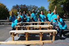 Chicago, Illinois - building bench (HiltonWorldwide) Tags: corporate community day hilton grand week service hotels hampton volunteer conrad vacations embassysuites volunteerism hiltonhhonors doubletreebyhilton hiltonworldwide hiltonhotelsandresorts travelwithpurpose