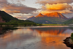 Pap of Coe at Sunset (Grisley Two at Ipernity now) Tags: sunset mountain scotland day sundown cloudy highland loch lochleven simplysuperb blinkagain blinksuperstars papofcoe
