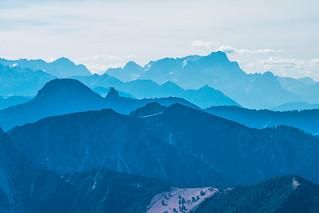 Blick vom Wendelstein auf die Zugspitze