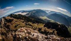The Weather Above The Clouds (Explore) (svenpetersen1965) Tags: panorama mountain alps germany bavaria rocks fisheye bayrischzell