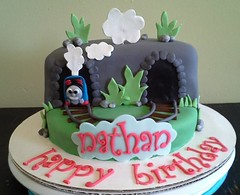 Thomas the Train cake by Amanda, Harford County, Maryland, www.birthdaycakes4free.com