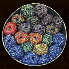 Knitting Wool Balls -:- 4123 (buddhadog) Tags: circles balls squircle twentyone21 multiplecolors pinnacle pinnaclelost1r106 100vu 500vu 600 500x500