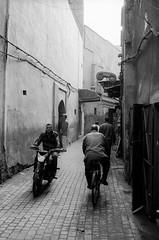 Scan-131230-0052.jpg (mathendrix) Tags: africa street analog blackwhite motorbike marrakech roll2 nikonf3 marroco fujineopan400 homedeveloping 2013 nikoncoolscan5000ed