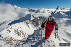 Walking over the clouds with Charles Navillod (Tristan Shu) Tags: france alps alpes photography photo europe tignes savoie fr rhonealpes rhnealpes espacekilly wwwtristanshucom tristanshu tristanshuphotography