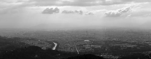 Torino. Panorama dalla collina di Superga