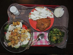 Monday's dinner (Hairlover) Tags: dinner salad meals meal onion supper entree