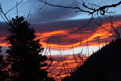 Red sky in the morning, Sailors take warning... (Pictoscribe) Tags: yard sunrise back january 15 2014 pictoscribe