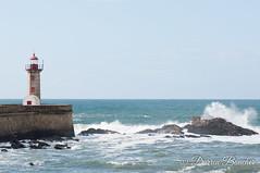 (Paguma / Darren) Tags: travel vacation lighthouse portugal water europe wave porto oporto