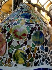 Ceramic close-up on the terrace of Casa Batlló by A. Gaudi - Barcelona (Sokleine (presently in Munich)) Tags: barcelona faïence architecture spain ceramics terrasse modernism catalonia unesco espana artnouveau gaudi espagne casabatllo unescoworldheritage barcelone catalogne décorarchitectural